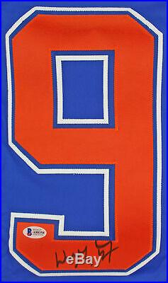 Oilers Wayne Gretzky Authentic Signed Blue Jersey Autographed BAS #A88358