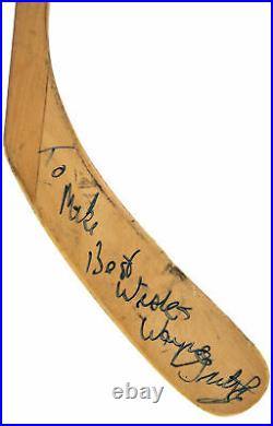 Oilers Wayne Gretzky Authentic Signed Game Used TItan Tmp Stick PSA/DNA #AH01142