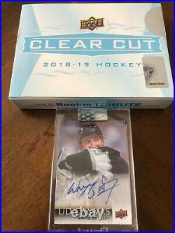 RARE Clear Cut Wayne Gretzky Canvas Autograph 19/25 Kings SSP Auto