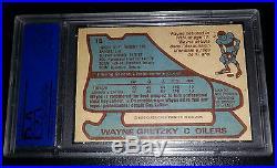 Rare! 1979 Opc #18 Wayne Gretzky Early Autograph Rookie Rc First Run Psa/dna