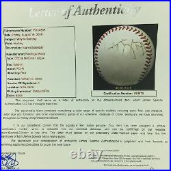 Rare 1980's Wayne Gretzky Signed Autographed National League Baseball JSA COA