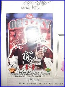 Rare Wayne Gretzky Post Cereal 1999 Ud Autograph Coa Mvp