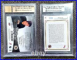 SP Authentic Upper Deck Hockey Bobby Orr & Wayne Gretzky Autograph Cards BGS