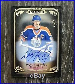 TRUE 1/1 Wayne Gretzky Auto 2019-20 Upper Deck Stature 1/1 On Card Autograph