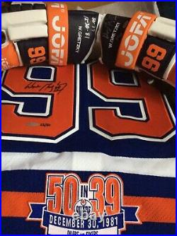 UDA -Gretzky Signed 50/39 Patch Jersey And Jofa Glove Set Limited to 50