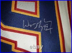 UDA WAYNE GRETZKY AUTOGRAPHED (1st SIGNING) ST. LOUIS BLUES HOME & AWAY JERSEYS