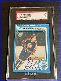 VINTAGE 1979-80 OPC Wayne Gretzky Rookie Autograph Auto Rc Dna SGC Signed