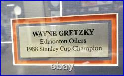 WAYNE GRETZKY 15X17 Framed Signed Auto Puck withPhoto Display JSA COA LE #/99
