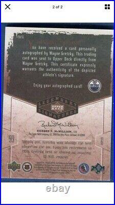 WAYNE GRETZKY 2004/05 UD Legendary Signatures #WG signed autographed card Auto