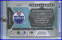 WAYNE GRETZKY 2014-15 UD CUP Brilliance AUTO B-WG Edmonton Oilers SSP 14-15