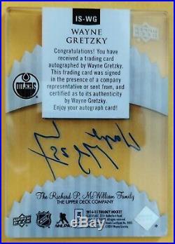 WAYNE GRETZKY-2014/15 UD Trilogy Ice Scripts AUTO/AUTOGRAPH GEM-MINT