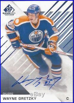 WAYNE GRETZKY 2016-17 Upper Deck SP Game Used Auto Blue Edmonton Oilers RARE