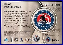 WAYNE GRETZKY-2018/19 UD The Cup 25th Anniversary AUTO/AUTOGRAPH GEM-MINT