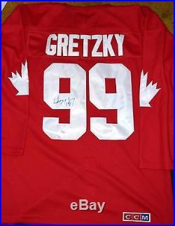 WAYNE GRETZKY #99 Signed Team Canada Cup Jersey JSA LOA Kings Oilers Rangers