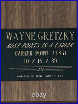 WAYNE GRETZKY Auto Signed 8x10 Photo / Plaque LE 309/1851 JSA COA Free Ship