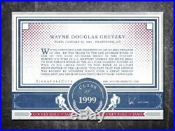 WAYNE GRETZKY Custom Cut signed autographed card Los Angeles Kings