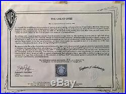 Warner Bros Wayne Gretzky Signed Cel Great Ones Los Angeles Kings + Rare Promo