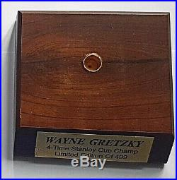 Wayne GRETZKY 1997 AUTOGRAPHED Oilers Puck UPPER DECK Limited of 499