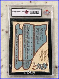 Wayne Gretzky 1979-80 O-pee-chee Opc Rc Rookie Card Ksa 7.5 Not 7 Or 8