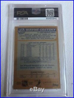 Wayne Gretzky 1988 Topps Signed Autographed PSA 10 Gem Mint Rare Kings Jersey