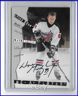Wayne Gretzky 1995 Upper Deck Be A Player Autograph Auto -ssp