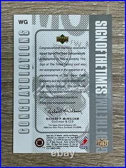 Wayne Gretzky 1998-99 Sign of Times AUTO SP Authentic #WG EX-NMT