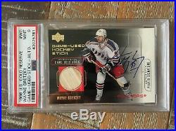 Wayne Gretzky 1998 Ud Gold Reserve Auto/game Used Psa 9! New Label/pop 1 Ever