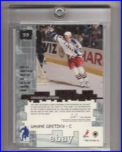 Wayne Gretzky 1999-00 Bap Signature Millennium Gold Autograph Auto Sp Ssp #99