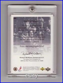 Wayne Gretzky 1999-00 Ud Authentics Ny Rangers Ssp Autograph Sp/25 Auto #wg4