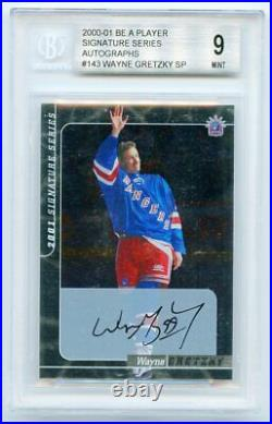 Wayne Gretzky 2000-01 Be A Player Signature Series Autograph SP BGS 9 KCCP084