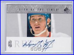 Wayne Gretzky 2003-04 SP Sign of the Times autograph card SOT-WG Short Print