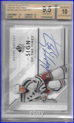 Wayne Gretzky 2006/7 Sp Sign Of The Times Autograph Auto Bgs 9.5/10 Gem Mint