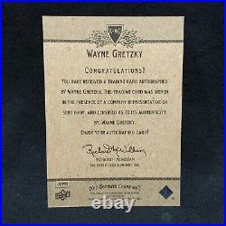 Wayne Gretzky 2012 Upper Deck Goodwin Champions On Card Auto Autograph Sp A-wg