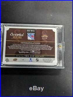 Wayne Gretzky 2013-14 Upper Deck The Cup Scripted Sticks Autograph /35
