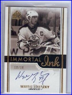 Wayne Gretzky 2016-17 SP Authentic Immortal Inks Auto Autograph #II-WG 10/10