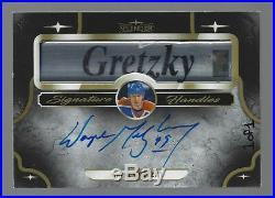 Wayne Gretzky 2017-18 Upper Deck Splendor 1/1 Auto Signature Handles Stick