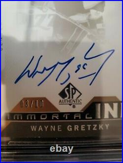Wayne Gretzky 2018-19 SP Authentic Immortal Ink #03/10 Autographed BGS 8.5