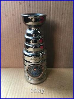 Wayne Gretzky 99 Edmonton Oilers Signed Mini Stanley Cup UDA BAF40770 102/250