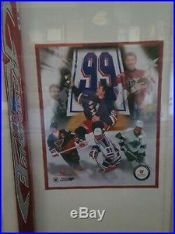 Wayne Gretzky Autograph TPS Response Stick In Case