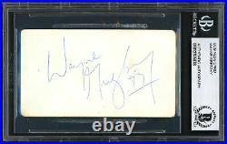 Wayne Gretzky Autographed 2x3.5 Business Card Oilers Vintage Beckett 12305878