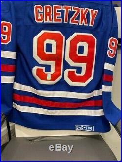Wayne Gretzky Autographed Authentic CCM Rangers Jersey