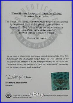 Wayne Gretzky Autographed Blues Signature Puck 20x28 Poster Photo UDA UAS18548