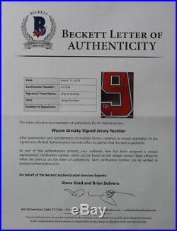 Wayne Gretzky Autographed & Framed Blue Oilers Jersey Beckett COA D9-L