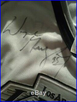 Wayne Gretzky Autographed Kings Jersey. Bold Huge Signature