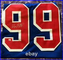 Wayne Gretzky / Autographed New York Rangers Custom Hockey Jersey / Coa