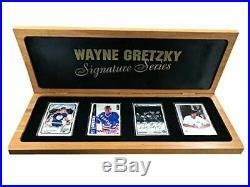 Wayne Gretzky Autographed Signature Series Porcelain 4 Card Set by Upper Deck