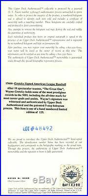 Wayne Gretzky Autographed Signed AL Baseball Oilers #24/125 UDA BAF14390