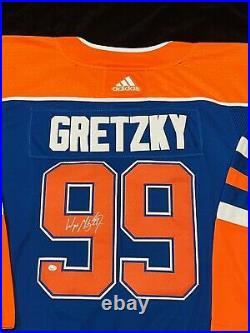 Wayne Gretzky Autographed Signed Adidas Authentic Edmonton Oilers Jersey COA