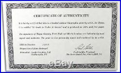 Wayne Gretzky Brett Hull Mario Lemieux Signed 50 Goals 50 Games Litho #/1000