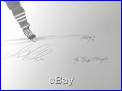 Wayne Gretzky Brett Hull Mario Lemieux Signed 50 Goals in 50 Games Litho /250